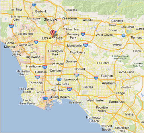 los angeles google map bnhspinecom